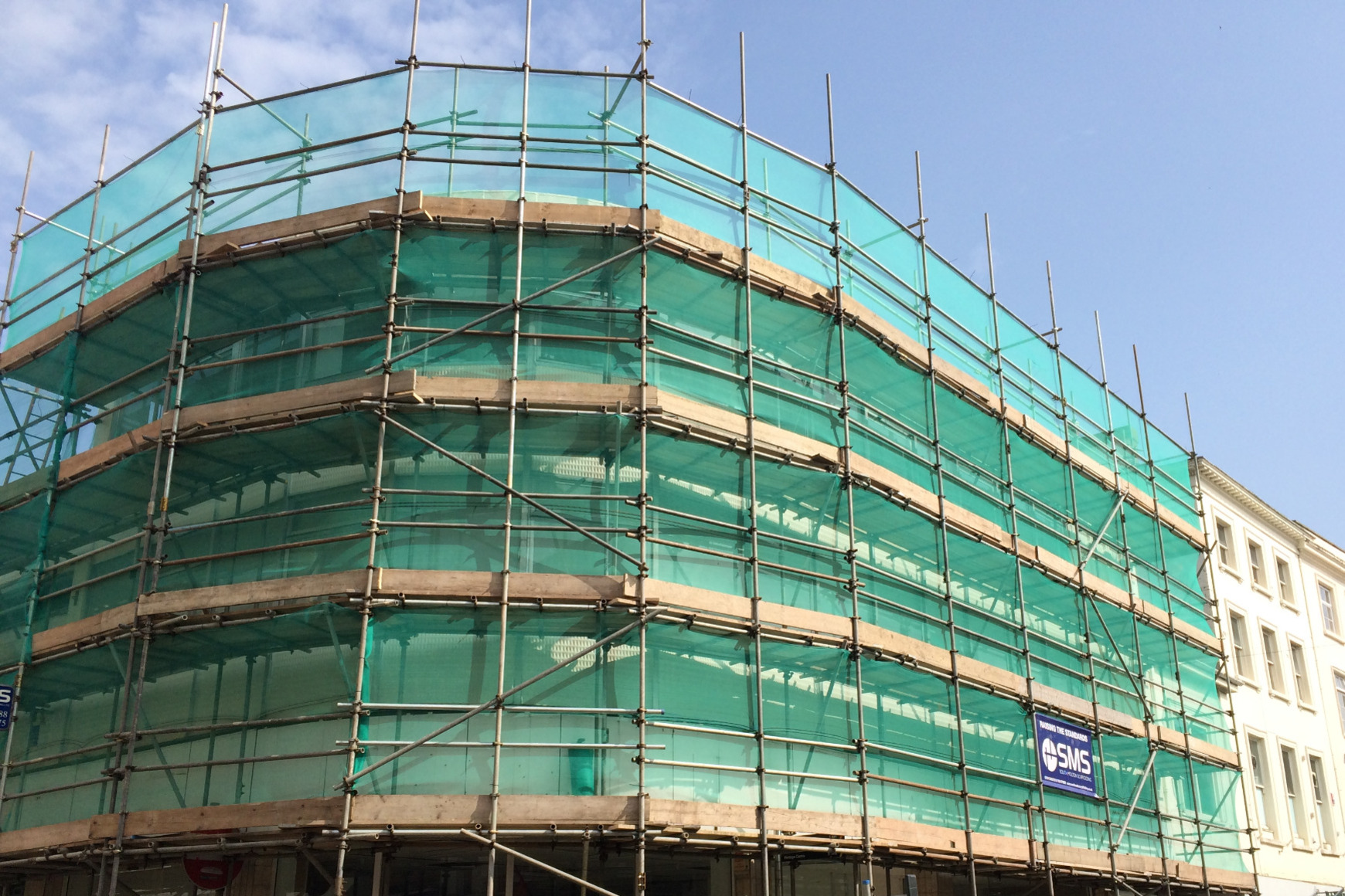 Erected Scaffolding in Barnstaple