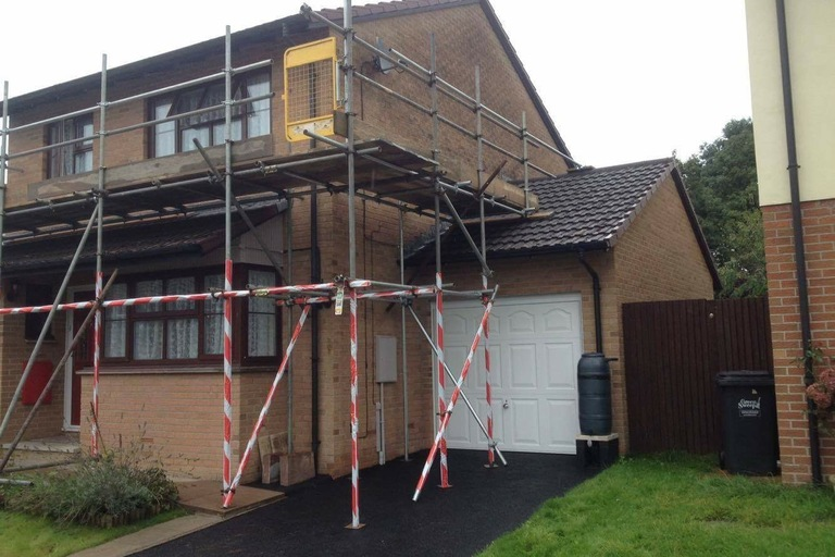 Domestic Scaffolding Erected in North Devon by SMS