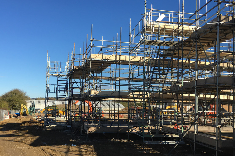 Building Site Scaffolding Erected Safely by South Molton Scaffolding